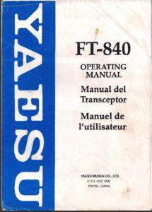 Instrucciones Yaesu FT-840