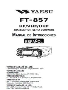 Manual de funcionamiento Yaesu FT-857